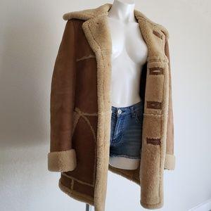 Vintage   Lakeland Suede Sherpa Jacket